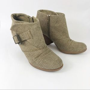 Blowfish Malia Roughout Canvas Ankle Boots